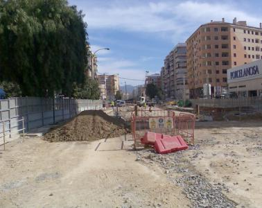 Field measurement for works of Line 2 - Malaga underground. Heroes de Sostosa - Martin Carpena (Spain)